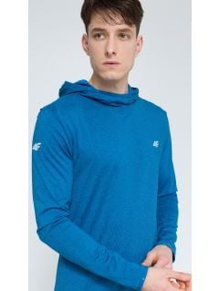 Men's active hoodie BLMF003 - denim melange
