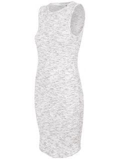 Women's dress SUDD445 - light grey melange