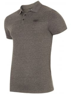 Men's polo shirt TSM301 - dark grey melange