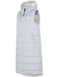 Women's down vest KUDP212 - light grey melange