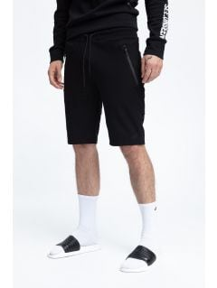 Men's knit shorts SKMD200 - black