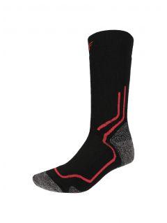 Unisex trekking socks SOUT200 - black and white melange