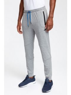 Men's active pants SPMTR200 - light grey melange