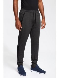 Men's active pants SPMTR202 - dark grey melange