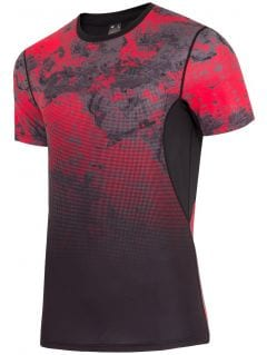 Men's active T-shirt TSMF200 - red allover