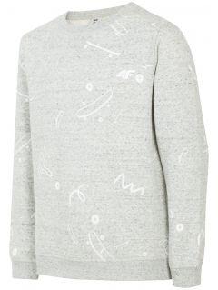 Bluza dla dużych dzieci (chłopców) JBLM202 - ciepły jasny szary melanż