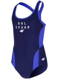 One-piece swimsuit for older children (girls) JKOS200 - navy