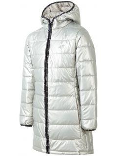Down coat for older children (girls) JKUDP203 - gold