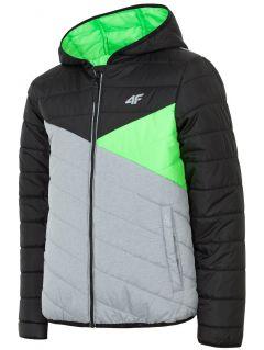 Down jacket for older children (boys) JKUMP203 - black