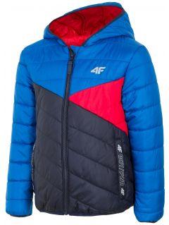 Down jacket for older children (boys) JKUMP203 - blue
