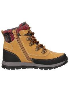 Autumn boots for older children (boys) JOBMA202 - yellow allover