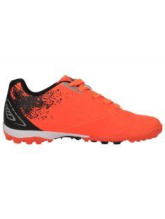 Soccer shoes for older children (boys) JOBMP400H - orange neon