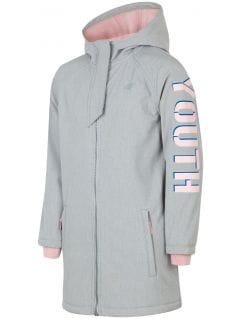 Softshell jacket for older children (girls) JSFD203 - grey melange