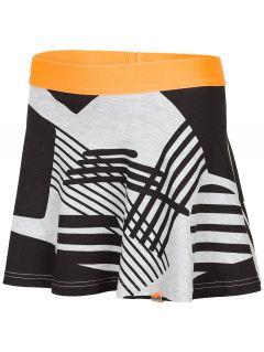 Skirt for older children (girls) JSPUD203 - grey melange