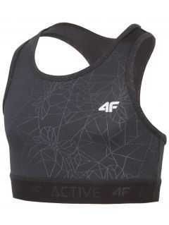 Active bra for older children (girl) JTOPD400 - black
