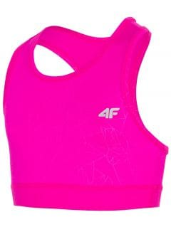 Active bra for older children (girl) JTOPD400 - dark pink