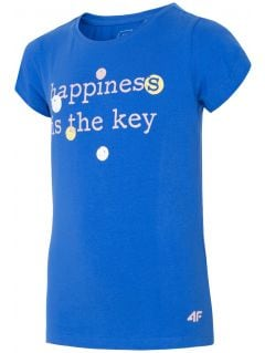 T-shirt for older children (girls) JTSD202 - cobalt blue