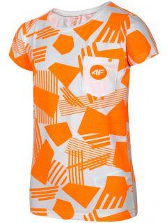 T-shirt for older children (girls) JTSD207A - orange neon