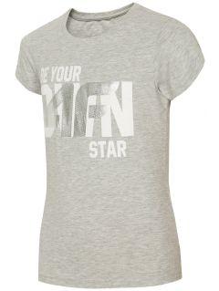 T-shirt for older children (girls) JTSD210A - light grey melange