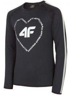 Active long sleeve T-shirt for older children (girls) JTSDL400 - black