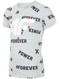 T-shirt for younger children (boys) JTSM102 - light grey melange
