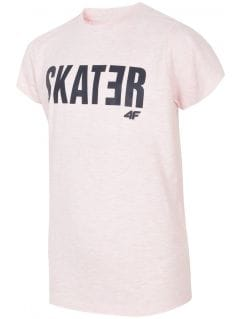 T-shirt for older boys JTSM200 - light pink melange