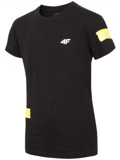 T-shirt for older children (boys) JTSM210 - black