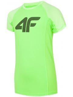 Active T-shirt for older children (boys) JTSM401 - green neon