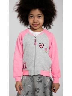 Hoodie for small girls JBLD107 - pink melange
