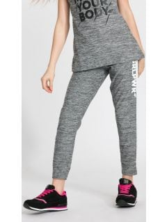 Active pants for big girls JSPDTR400 - light gray