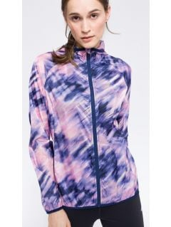 Women's active jacket KUDTR202 - allover multicolor