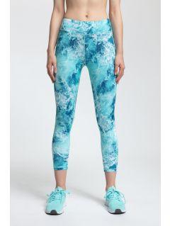 Women's active leggings SPDF250 - turquoise