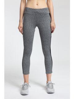 Women's active leggings SPDF301 - gray melange