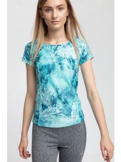 Women's active T-shirt TSDF258 - turquoise
