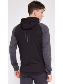 Men's active sweatshirt BLMF207 - black