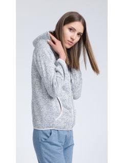 Women's fleece hoodie PLD003 - light gray