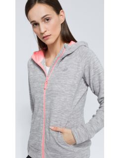 Women's fleece hoodie PLD301 - grey
