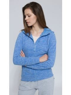 Women's fleece hoodie  - blue melange