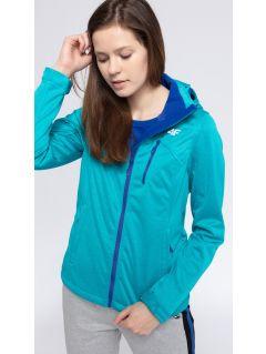 Women's softshell jacket SFD301 - turquise melange