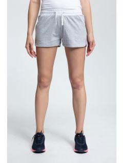 Women's knit shorts SKDD003 - light gray