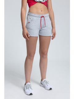 Women's knit shorts SKDD300 - light grey