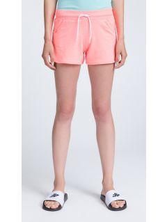 Women's knit shorts SKDD300 - salmon pink