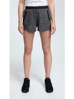 Women's knit shorts SKDD421 - dark grey melange