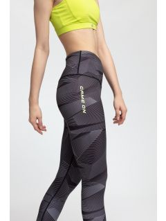 Women's active leggings SPDF200 - multicolor