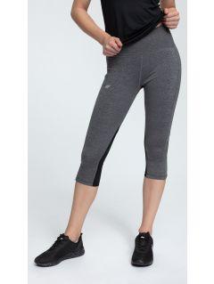 Women's active pants SPDF252 - dark grey melange