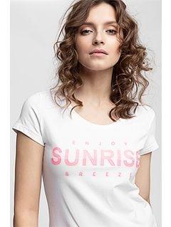 Women's T-shirt tsd453 - white