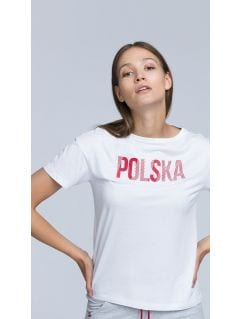 SPORTS FAN T-SHIRT FOR WOMEN TSD501 - WHITE