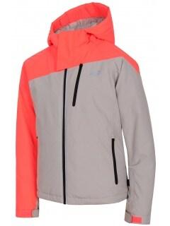 0110523b4 Ski jacket for older children (girls) JKUDN402 - grey