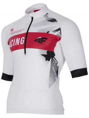 Men's cycling jersey RKM150 - white