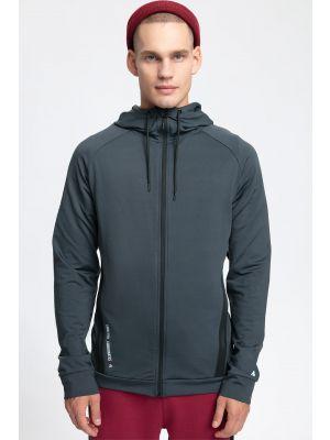 Men's hoodie BLM260 - dark grey melange